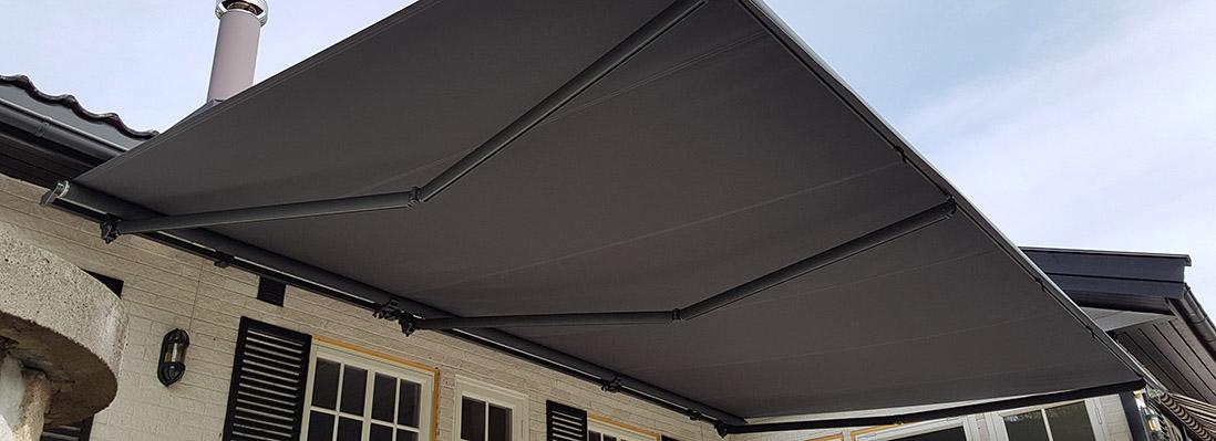 terrassemarkise nettbutikk solskjerming as. Black Bedroom Furniture Sets. Home Design Ideas